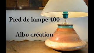 TOURNAGE PIED DE LAMPE EN BOIS DE BAUBUCHE