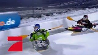 Chethrin Schulze vs. Jana Julie Kilka (Einzel-Kajak) | Die ProSieben Wintergames 2018 | ProSieben