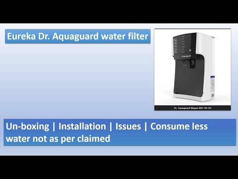 Water purifier | Dr.Aquaguard Magna HD UV | Unboxing | Less water | Eureka forbes