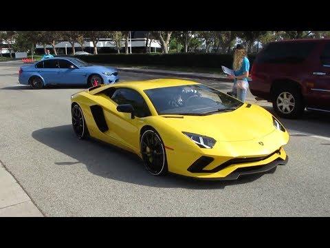 Yellow Lamborghini Aventador S