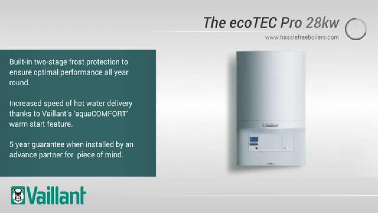 Vaillant ecoTEC Pro 28kw Combi Boiler - YouTube
