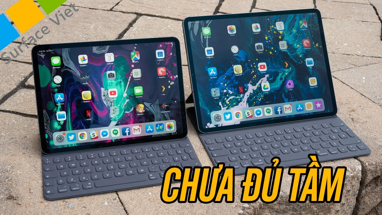 iPad Pro 2018 có thể thay thế được Surface Pro 6 làm việc văn phòng không?