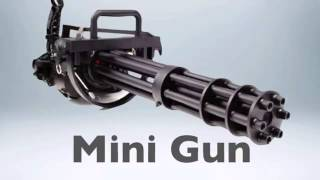 Mini Gun Sound Effects   YouTube