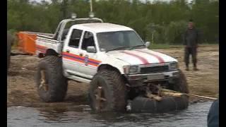 спасатели утопили машину пытаясь форсировать реку не совсем обычным способом