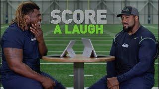 Score A Laugh D.J. Fluker And Duane Brown  2019 Seattle Seahawks