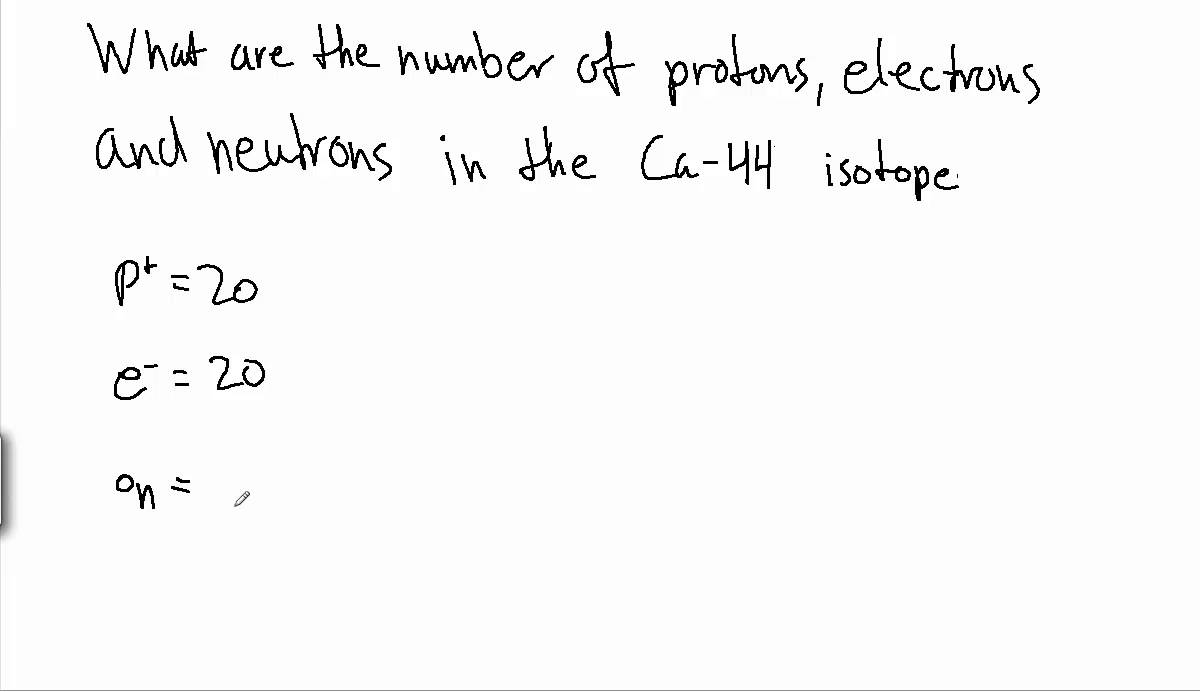 How to find the number of protons electrons and neutrons of an – Calculating Protons Neutrons and Electrons Worksheet