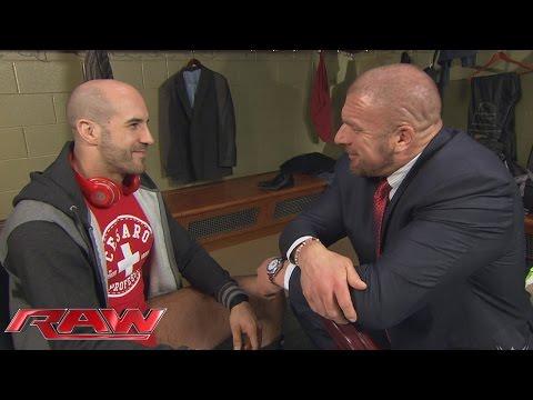 Triple H Spricht Mit Cesaro Und Alberto Del Rio: Raw – 16. November 2015