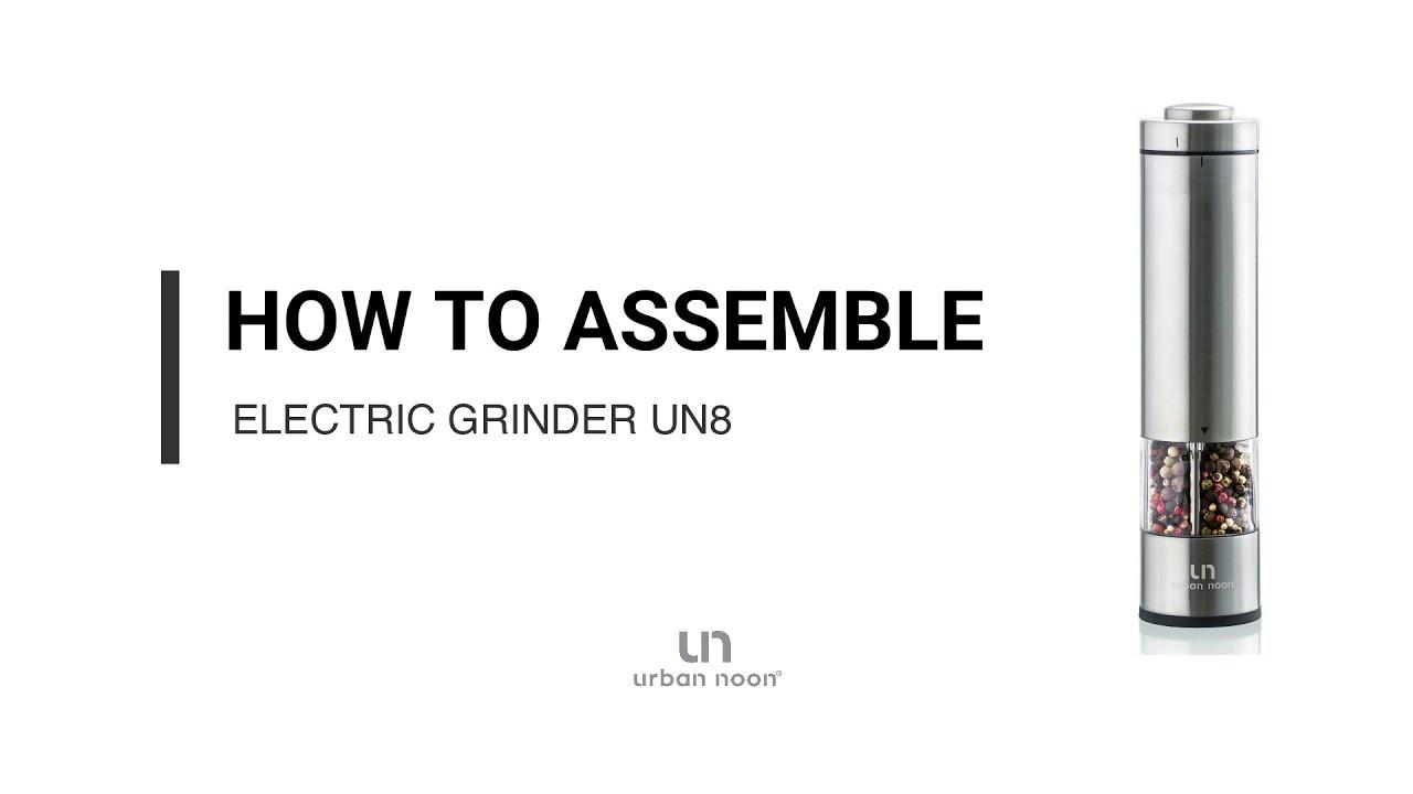 How to assemble electric salt & pepper grinder UN8