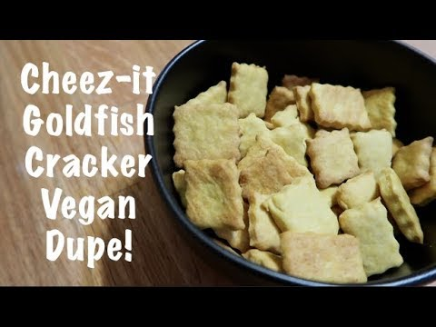Cheez-it/Goldfish Cracker Vegan Dupe!