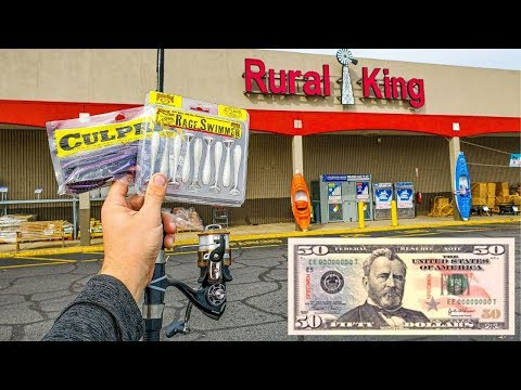 $50 Rural King Fishing CHALLENGE (Farm Store!!)