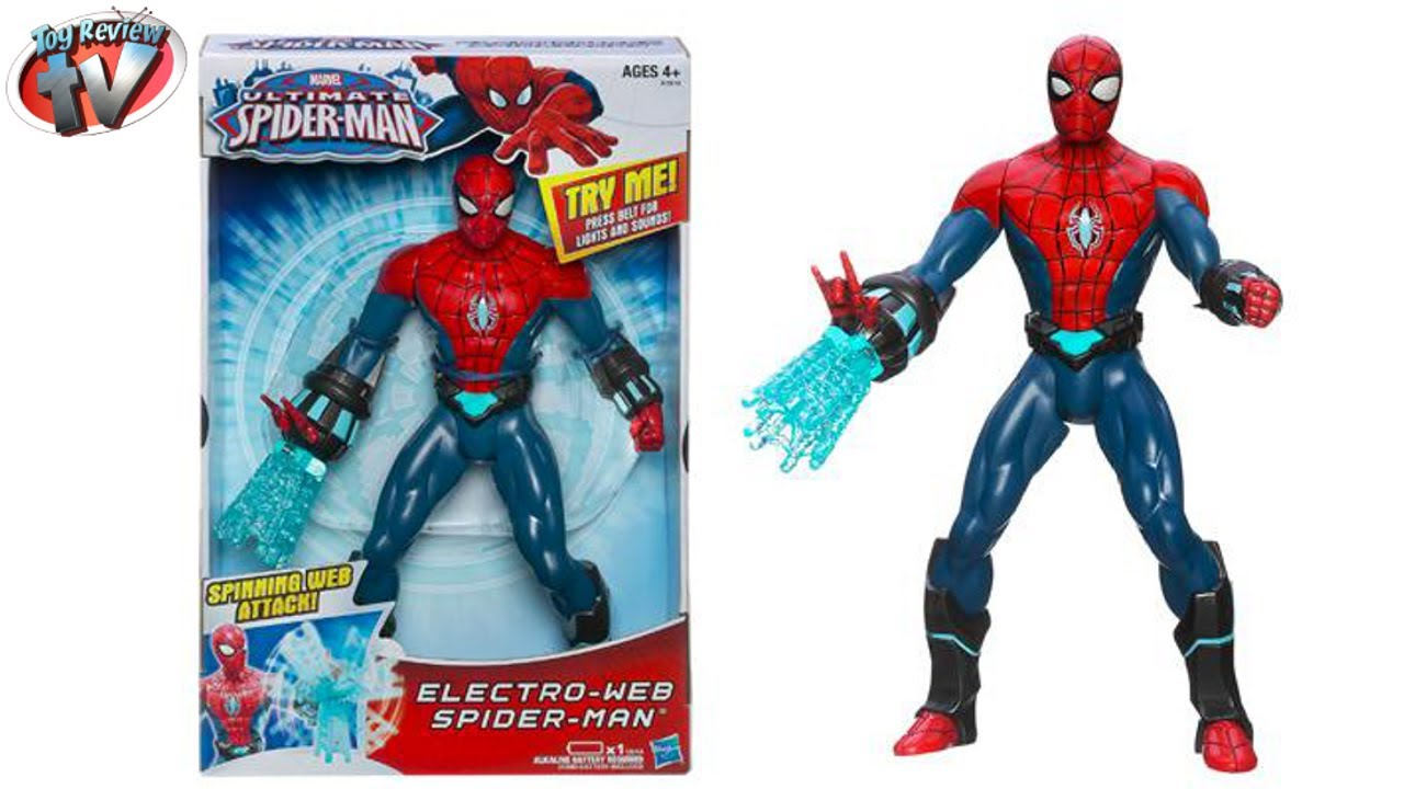Hasbro Ultimate Spider-Man Electro-Web Spider-Man Action Figure ...