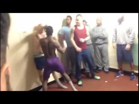 Shocking HMP Featherstone prison fight caught on camera