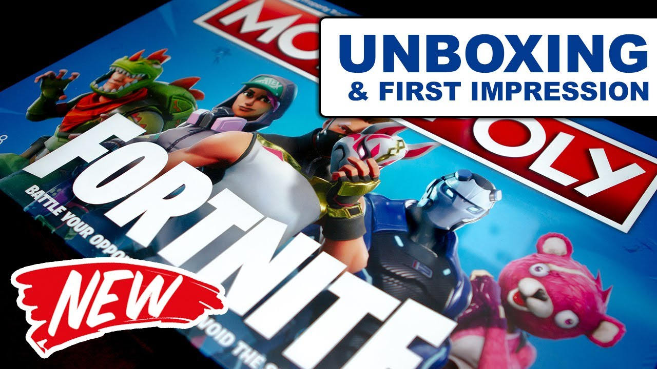Fortnite Monopoly Unboxing First Impression Youtube