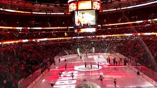 Honoring of Stan Mikita - Last Blackhawks game 4-6-18