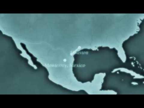 Houston, Texas to Monterrey, Mexico Time-Lapse