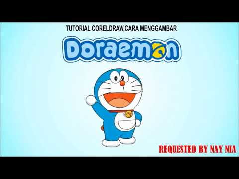 Cara Cepat Menggambar Dan Mewarnai Doraemon Dengan Coreldraw X7