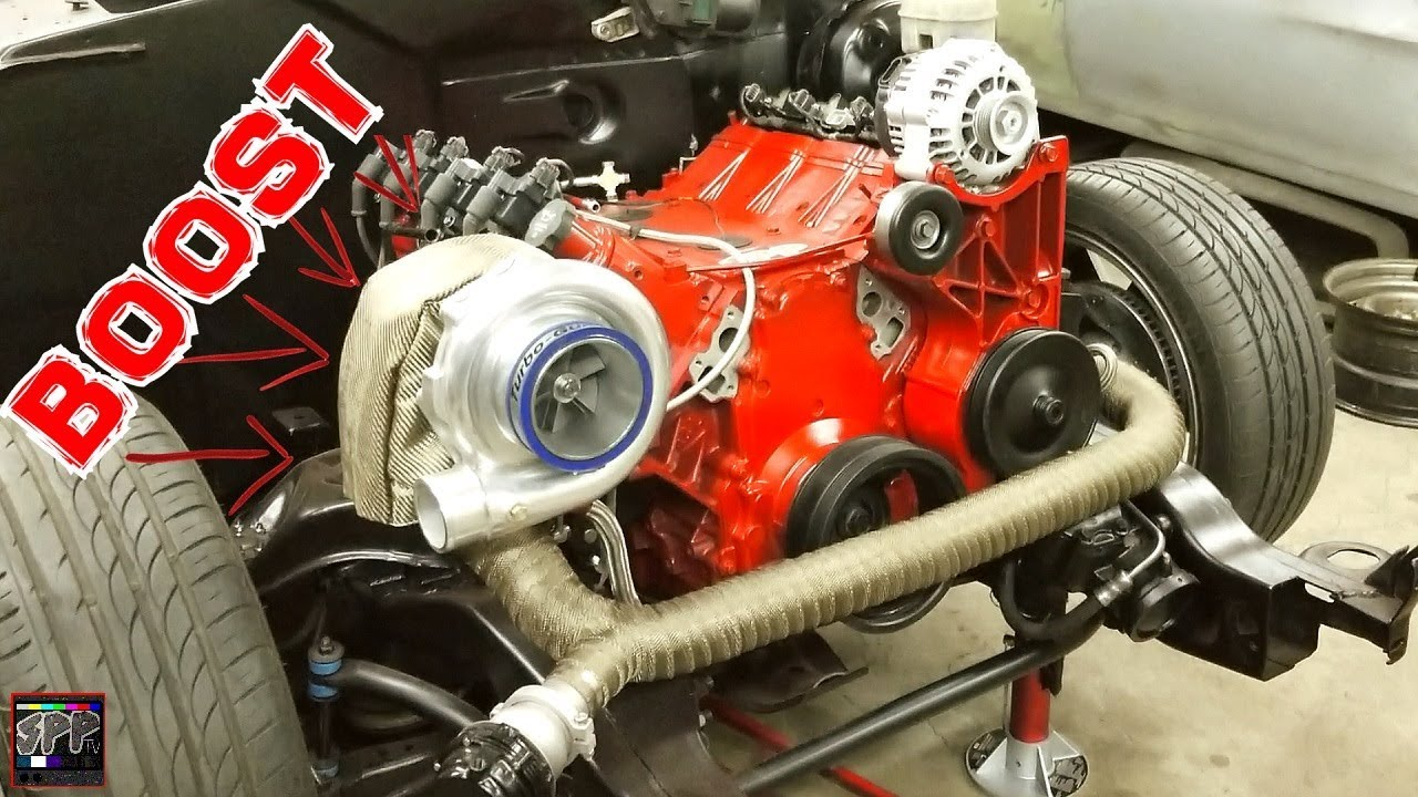 medium resolution of turbo 5 3 ls engine final install painting and perfecting l33 swapped s10 minitruck build