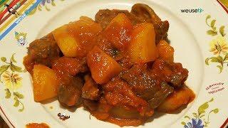 25 - Picchiante con patate..e le pance son saziate (antica ricetta secondo di carne tipico toscano)