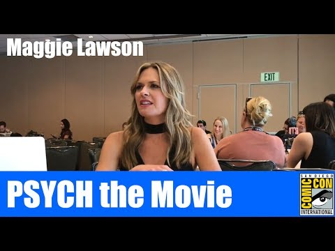Maggie Lawson PSYCH the Movie Press Room SDCC 2017