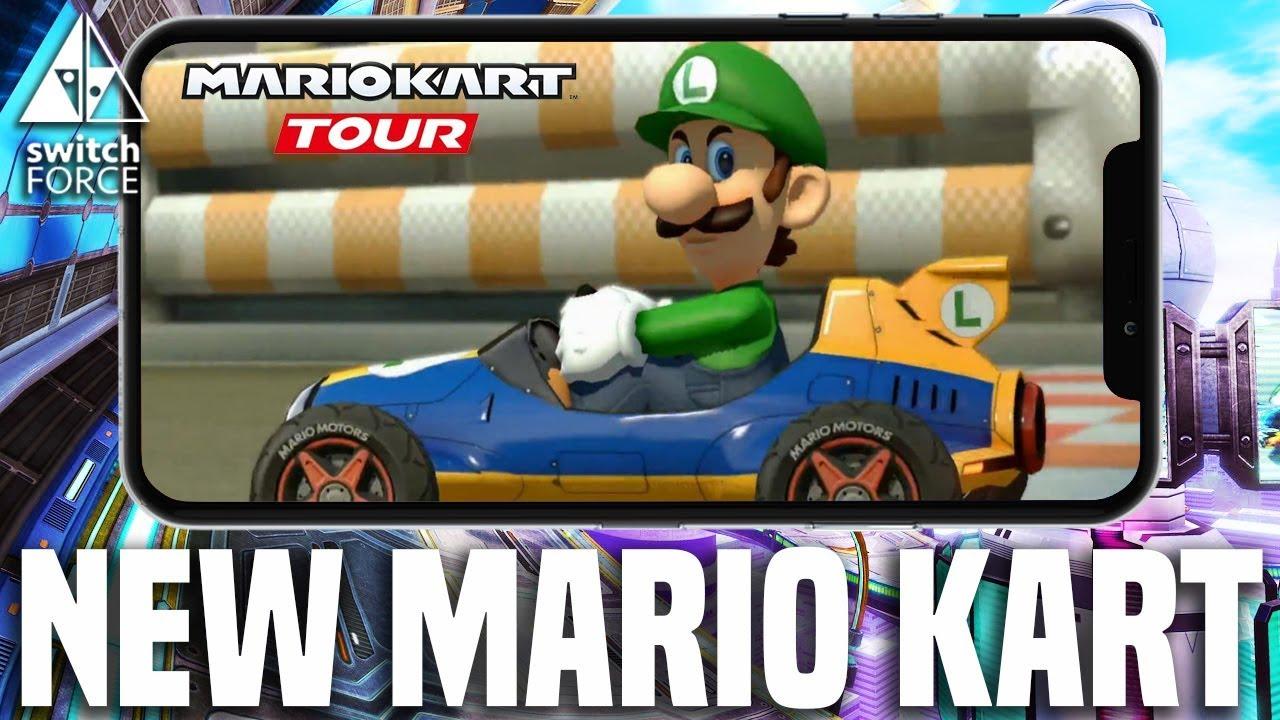 NEW MARIO KART GAME REVEALED FOR MOBILE! Mario Kart Tour ...