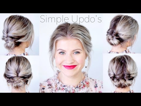 Simple Elegant Updo Hairstyles For Medium Length Hair Milabu Youtube