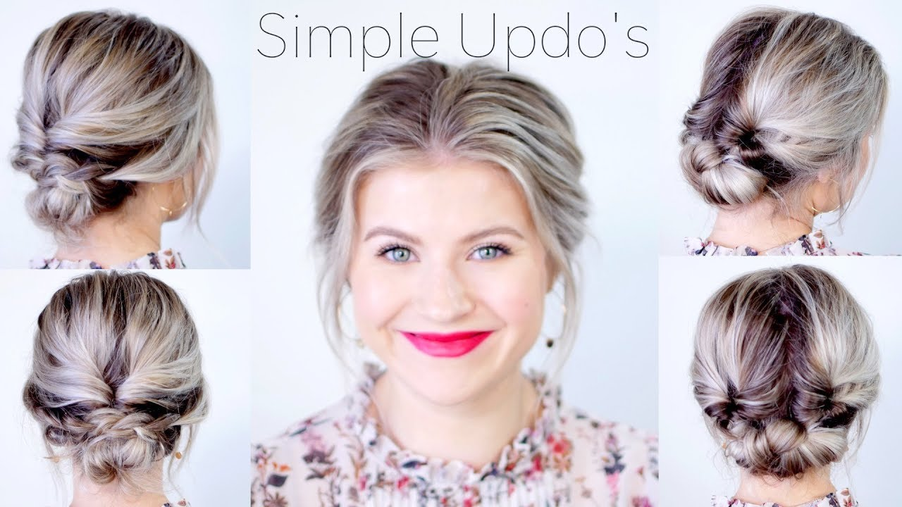 simple elegant updo hairstyles