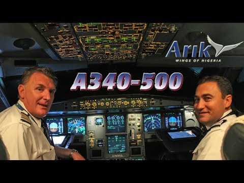 Piloting the Airbus A340-500 out of Lagos Nigeria