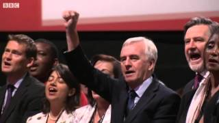 Labour conference closes with Red Flag and Jerusalem