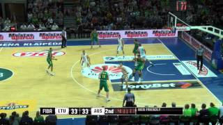 Lietuva - Australija (draugiškos krepšinio rungtynės) 2015-07-29