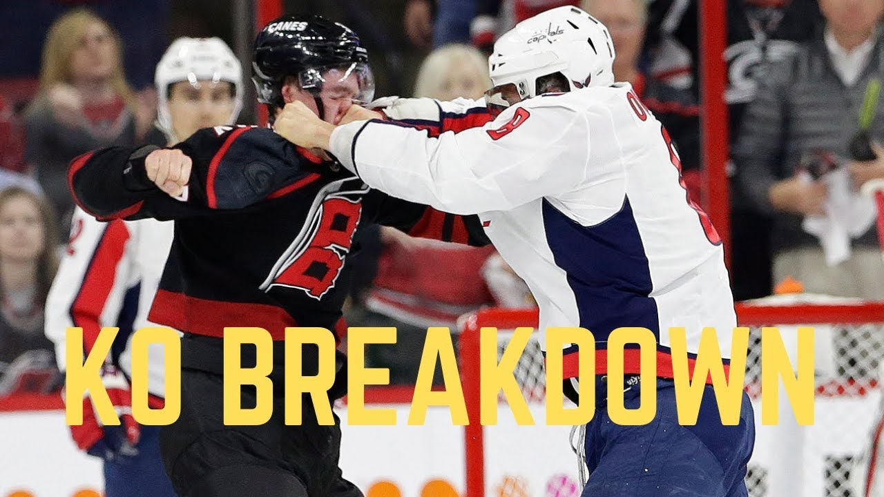Capitals star Alex Ovechkin knocks out Hurricanes rookie Andrei Svechnikov in playoff game