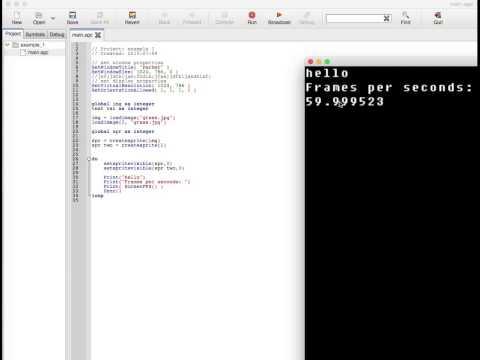 AGK app game kit 2.0 tutorial #1: sprites/core functions thumbnail