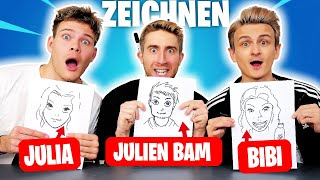 YouTuber an ZEICHNUNGEN erraten! 👨‍🎨| mit Joey's Jungle & Falco