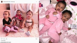 Khloe Kardashian shares cute pictures of baby True Thompson and Chicago West