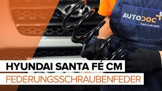 Wie Sie Luftmengenmesser beim HYUNDAI SANTA FÉ II (CM) selbstständig austauschen - Videoanleitung