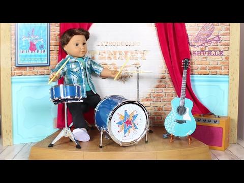 Doll TOYS Review | American Girl Doll Logan's Rhythmic Drum Set