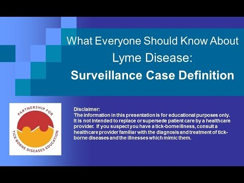 Lessons in Lyme:  Surveillance Case Definition