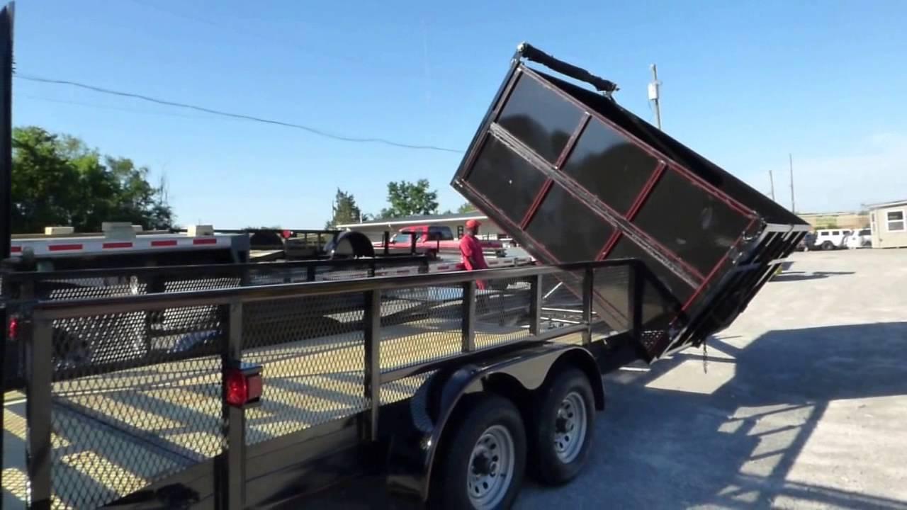 Load Trail Dump Trailer >> Hybrid Dump Trailer 7' x 20' With 6' Side Dump Bed - YouTube