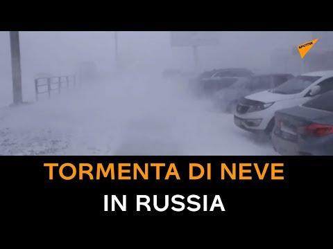 Maltempo, Tormenta Di Neve E Vento Forte In Russia