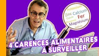 🍏 Les 4 Carences Alimentaires à Surveiller ! 🔎 Fer, calcium, magnésium...
