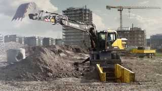 Volvo EW160E, EW180E Wheeled Excavators promotional video