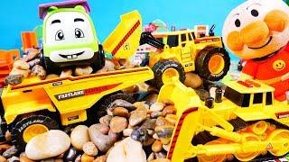 はたらくくるま アンパンマン 工事車両セットを開けてみるよ♪ ガソリンスタンド ブルドーザー ホイールローダー ダンプカー おもちゃ アニメ 幼児 子供向け動画 乗り物 のりもの TOMICA