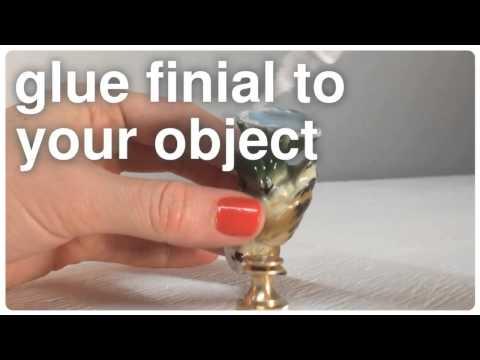 DIY owl lamp finial tutorial
