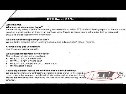 ATV Television Latest News - Polaris RZR Recall Information