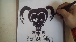 Como dibujar el logo de harley quinn suicide squad how for Imagenes de jarli cuin