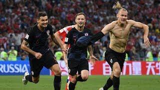 Хорватские футболисты кричат «Слава Украине!»