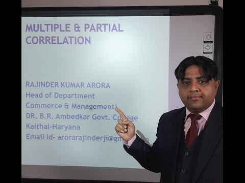Multiple and Partial Correlation in Hindi under E-Learning Program