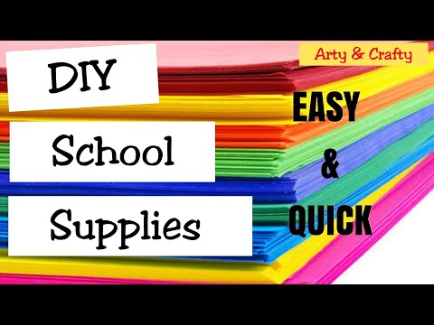 3 Back To School DIY / Easy DIY Paper Craft for Kids /#SchoolSupplies #Craft #ArtyandCrafty