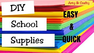 3 Back To School DIY / Easy DIY Paper Craft for Kids /#SchoolSupplies #Craft #ArtyandCrafty