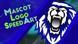 Mascot Logo Speed Art - Lion Logo
