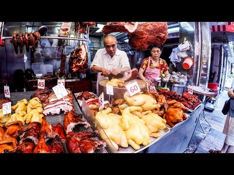Hong Kong Street Markets, Electronics, Food and Phones in Sham Shui Po